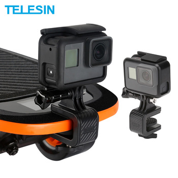 TELESIN Skateboard Mount Holder Stand Clip for GoPro Xiaomi YI for EKEN for DJI Osmo Action Camera Sport Accessories