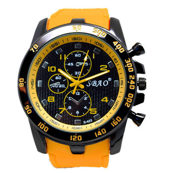 2020 Men's Quartz Watch Fashion Wristwatches Stainless Steel Yellow Clock Luxury Sport Analog Modern Men Wrist Watches 2