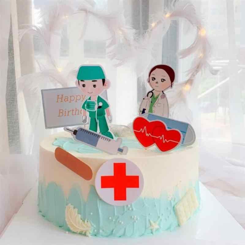 Magnificent 28Pcs Nurse Doctor Cupcake Topper Happy Birthday Cake Pick Dessert Birthday Cards Printable Inklcafe Filternl