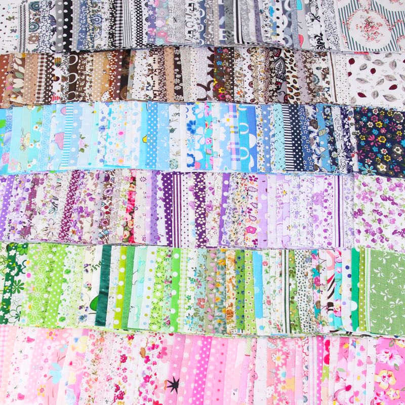 50 sztuk Assorted Floral wydrukowano tkaniny bawełniane szycia pikowania tkaniny do patchworku robótki DIY Handmade materiał 10X10cm plac