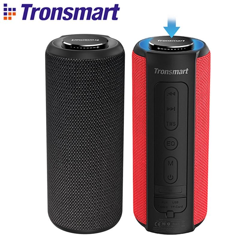 Tronsmart T6 Além de Bluetooth Speaker Speaker Portátil Colunas 40W Subwoofer Soundbar IPX6 À Prova D' Água com Assistente de Voz, TWS