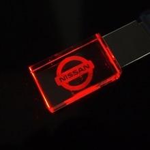 Usb-Disk Pen-Drives Memory-Stick Usb-Flash-Drive Car-Logo Crystal NISSAN Wedding-Gifts