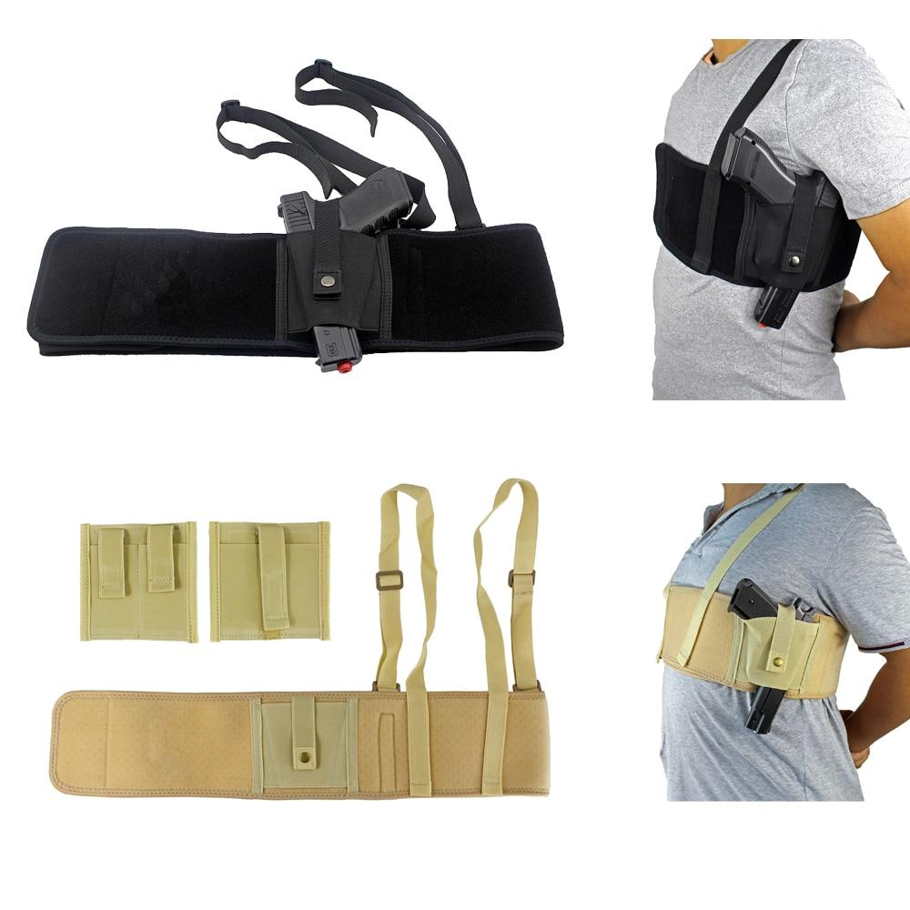 Concealed Carry Shoulder Gun Holster Elite Duty Ventilated Ambidextrous Shoulder Holster For Deep Concealment 47 Inch US Stock