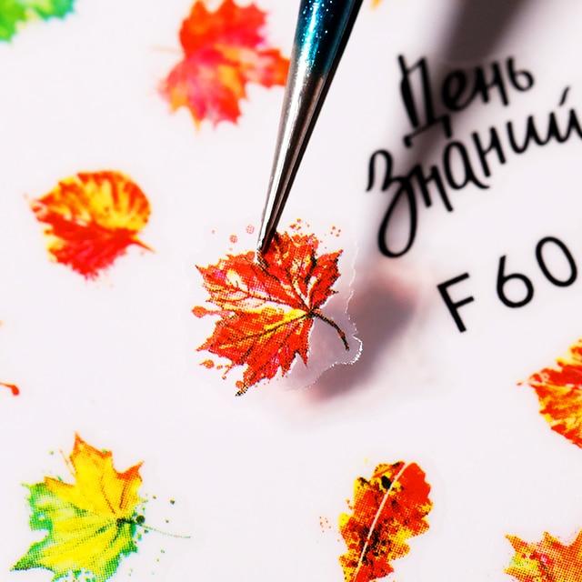 Купить наклейки для ногтей с изображением золотых листьев осенние кленовые картинки цена