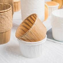 50 шт. стаканчики для суфле из обработанной бумаги, чашки для мерных капкейков, чашки для выпечки и высокотемпературные чашки, форма для дома...