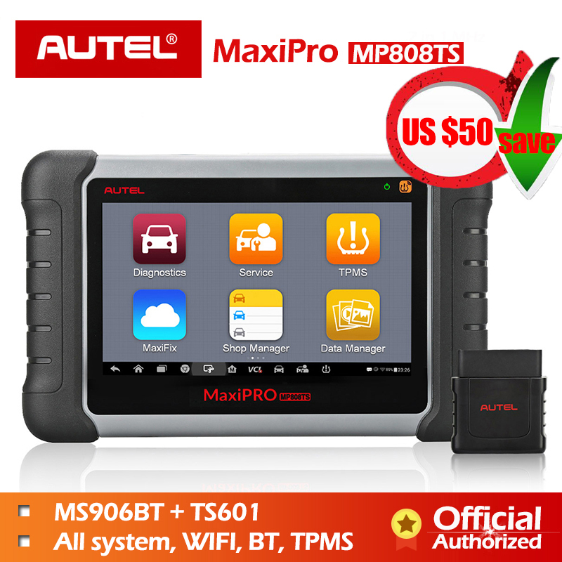 Autel MP808TS Diagnostic Tool Wifi Bluetooth OBD OBD2 TPMS Tool Programmer AUTEL MX Sensor PK DS808