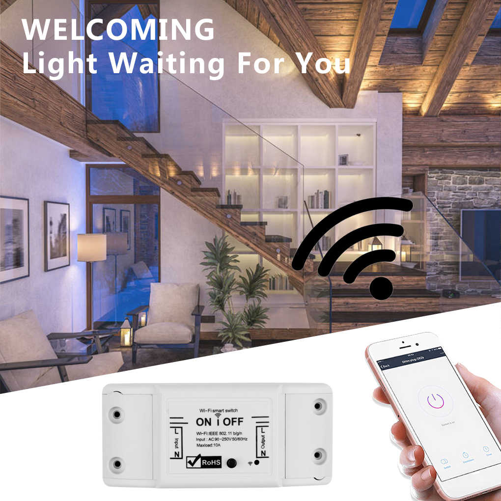 Smart Remote Control WIFI On/Off Timer Saklar Nirkabel Universal Disconnect Switch Rumah Tangga Controller untuk IOS/Android