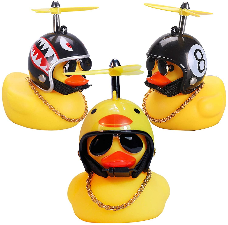 Резиновая утка, игрушечные украшения для автомобиля, желтая утка, украшения для приборной панели автомобиля, крутая утка для очков с пропел...