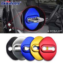 Car Styling Door Lock Cover Auto Buckle Case For Mazda 2 3 MS 6 CX-5 CX5 For Toyota Prius Verso CHR Yaris Avensis accessories