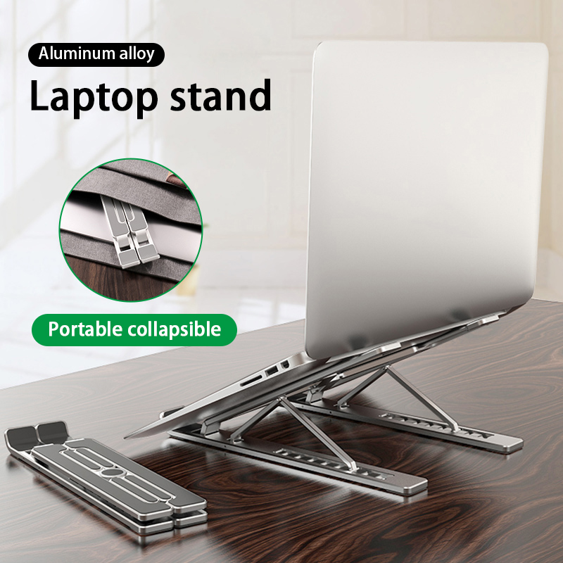 Portable 11-17inch Laptop Holder dropshipping Foldable Notebook Stand Holder For Macbook Lapdesk Aluminum Computer Cooling(China)