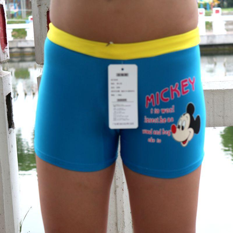 Children's Swimming Trunks Chinlon Boy's Aussiebum Boy Digital Printing Swimming Trunks Swimming Product