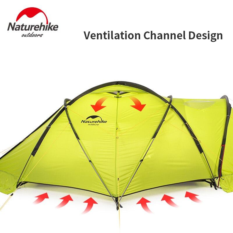 Naturehike Igloo палатка 2 человек снег палатка 70D анти-стресс утолщенный ветер и морозостойкий палатка Прочный быстрое строительство