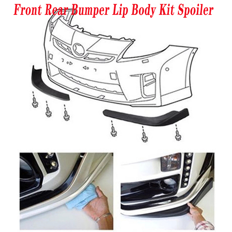 Car Front Rear <font><b>Spoiler</b></font> Fender Wrap Angle Bumper Cover For Mercedes Benz W211 <font><b>W203</b></font> W204 W210 W205 W212 W220 AMG Jaguar XE XF XJ image