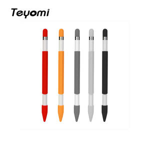 Teyomi Soft Silicone Magnetic pencil case Sleeve Cover With Pencil Cap and Nib Cover for Apple Pencil Accessory