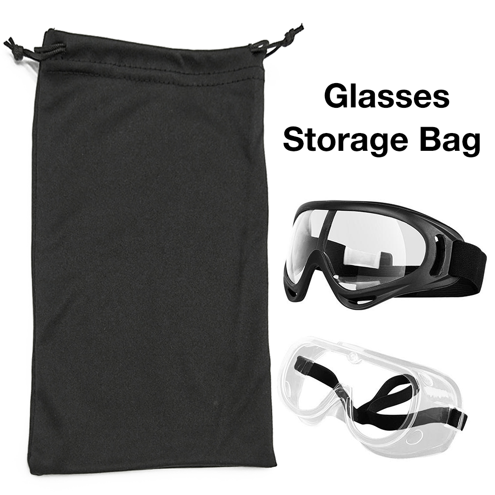 Glasses Storage Bag For Skiing Ski Goggles Sunglasses Microfiber Durable Pouch Container Organizer Bags