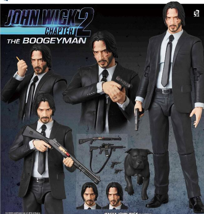 17cm John Wick Chapter 2 Action Figure Toys Doll Christmas Gift With Box