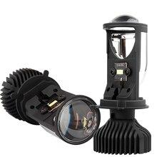 Canbus 90 w/par lampada h4 led mini lente do projetor kit de 14000lm kit de conversao hi/lo feixe farol 12v/24v rhd lhd