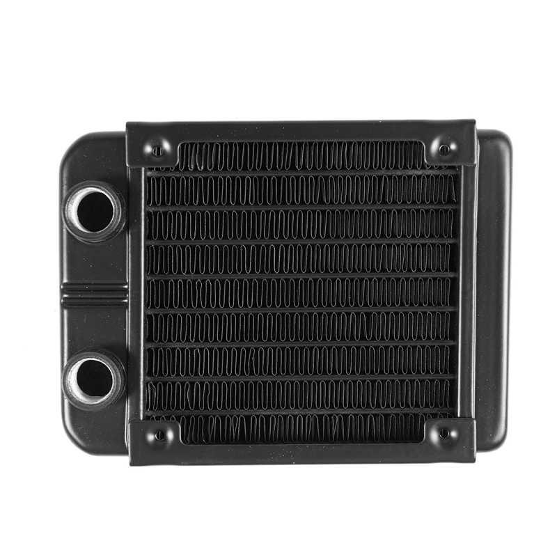 G1/4 90 ミリメートルアルミ熱ラジエーターパソコンの CPU 水冷ヒートシンク黒