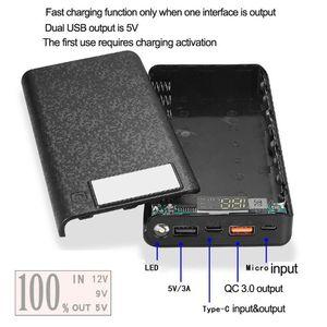 Image 5 - QC 3,0 Dual USB + Type C PD 8x18650 аккумулятор, DIY Power Bank Box, светодиодное быстрое зарядное устройство для iPhone, Samsung, сотовый телефон, планшет