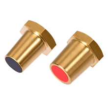 uxcell 1Pair Battery Charging Side Post Positive Negative 8mm Female Brass