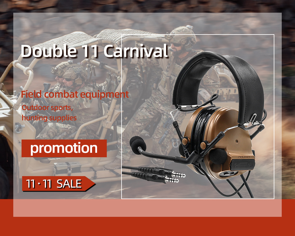 COMTAC TAC-SKY Comtac Iii Silicone Earmuffs Dual-pass Version Of The Military Hearing Noise Reduction Pickup Tactical Headset CB