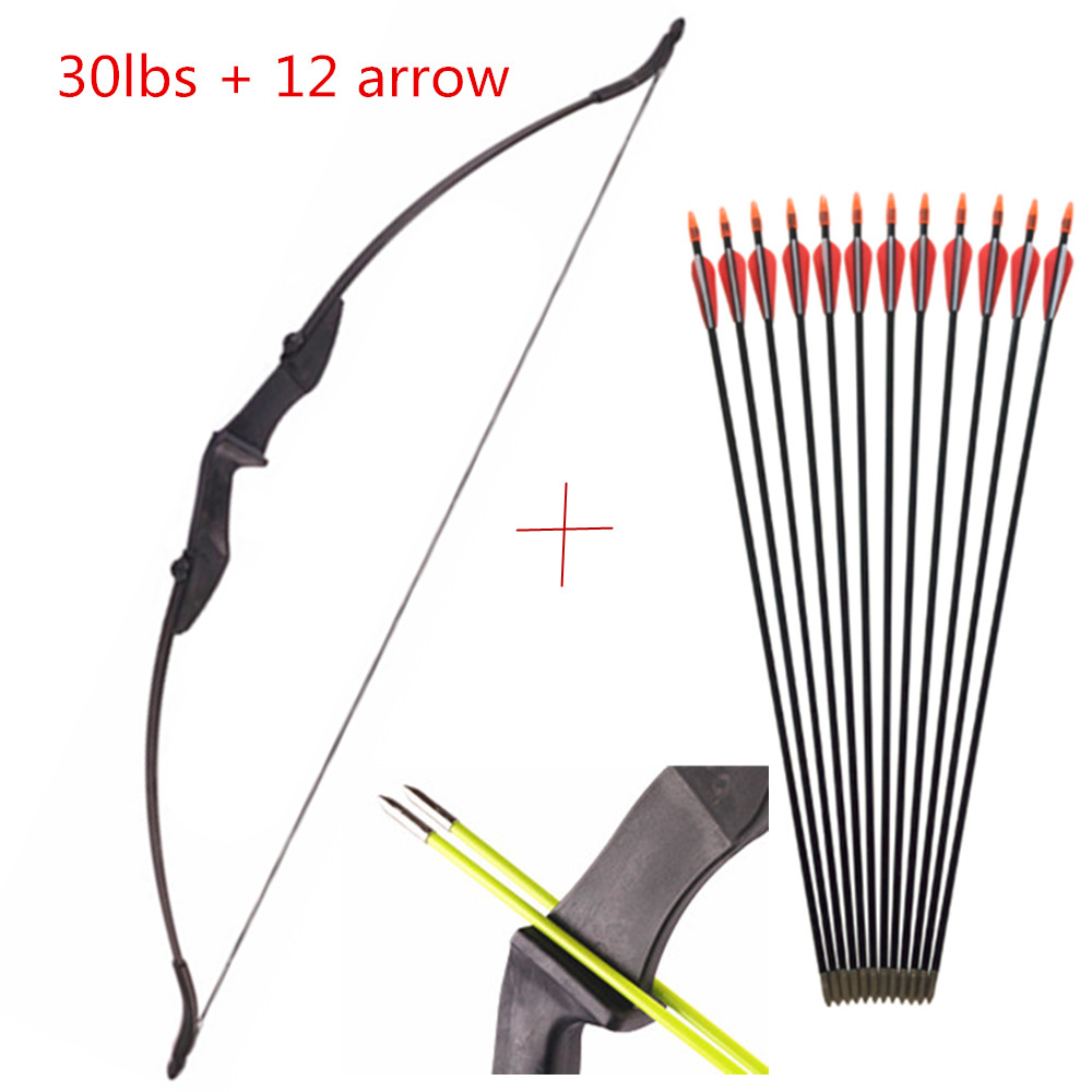 30-50Ibs Powerful Recurve Bow And Arrows Archery Bow With Double Arrow Rest For Left And Right Hands Outdoor Hunting Shooting