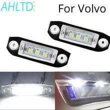 2 Pcs Canbus LED Auto Lamp 12V Car License Plate Lights 6500K White For Volvo S80 XC90 S40 V60 XC60 S60 C70 V50 XC70 V70 car computer screen display projector refkecting windshield for volvo c70 s40 s60 s70 s80 s90 v40 v70 v90 xc70 driving screen