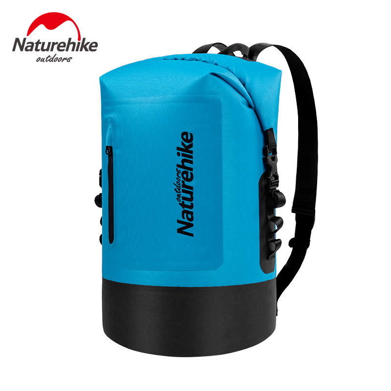 Naturehike Beach Waterproof Dry Bag Backpack 20L 30L 40L Roll Top Swimming Dry Sack Backpack Hiking Floating Kayak Dry Bag