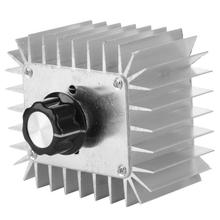 AC 220V 5000W Thyristor Motor Speed Control Adjustable Power Controller Temperature Controller Board 220v ac dimming voltage regulation speed control thyristor module scm pwm serial port adjustment power