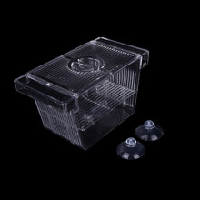 1pc Aquarium Transparent Aquarium Zucht Isolation Box Mini Haus Brüterei Inkubator Halter(China)