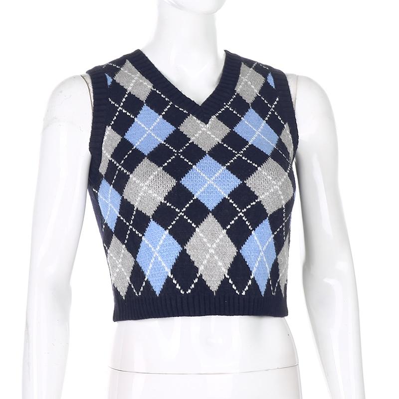 vintage 90s y2k FUBU argyle streetwear SWEATER vest top women/'s size medium