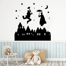 Luxuriant Magic Castle Wall Stickers Decorative Sticker Home Decor Kids Room Nature Background Art Decal LW495