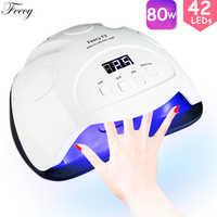 Lampe à UV LED pour manucure 80W LED sèche-ongles lampe UV pour Gel vernis 42 LED S lampe tout pour ongles manucure Machine fefairy F3