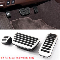 Alloy Accelerator Gas Brake Footrest Pedal Plate Pad Cover Fit For Lexus ES350 2010 2017 AT