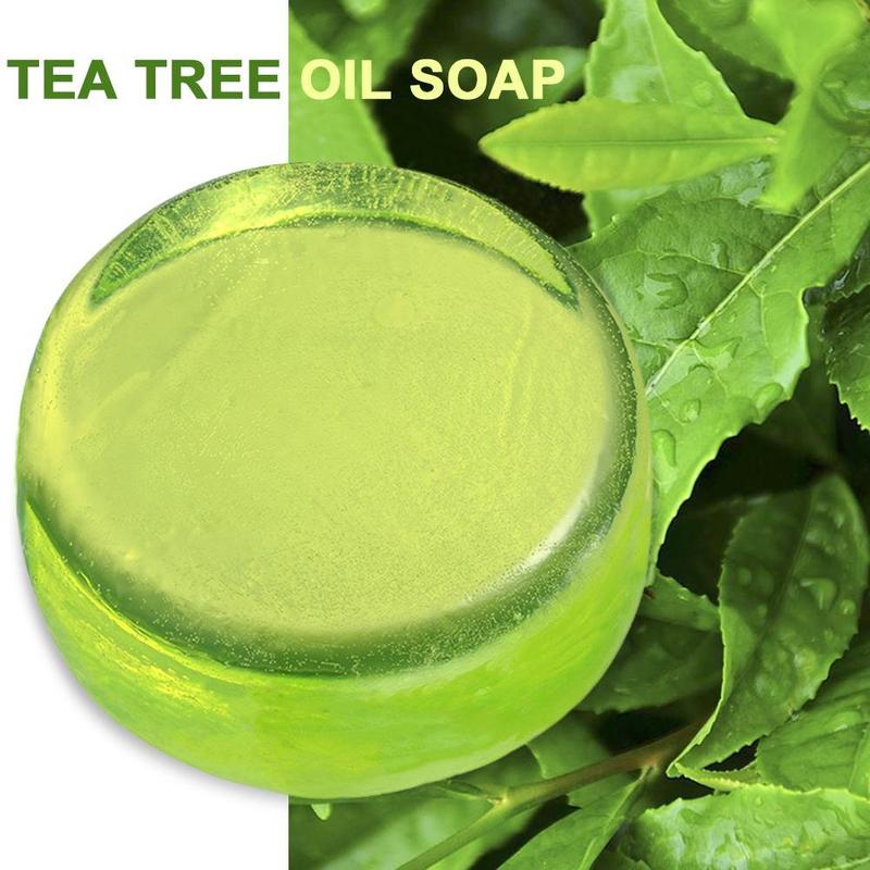 1Pc Natural Handmade Soap Australian Tree Oil Crystal Soap Moisturizing Oil Control Blackhead Clean Skin Care Face Wash Soap