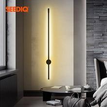 Lámpara Led de pared larga para decoración del hogar, candelabro de fondo montado en superficie para sala de estar, dormitorio y sofá, accesorio de iluminación