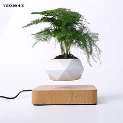 Gran oferta levitación de aire bonsái macetas de rotación de macetas Suspensión de levitación magnética flor flotante maceta planta decoración de escritorio