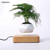 Heißer Verkauf Schwebenden Luft Bonsai Topf Rotation Pflanzer Magnetische Levitation Suspension Blume Schwimm Topf Topfpflanze Schreibtisch Dekor