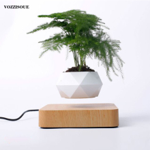 Hot Sale Levitating Air Bonsai Pot Rotation Planters Magnetic Levitation Suspension Flower Floating Pot Potted Plant Desk Decor