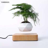 Hot Sale Levitating Air Bonsai Pot Rotation Planters Magnetic Levitation Suspension Flower Floating Pot Potted Plant Desk Decor