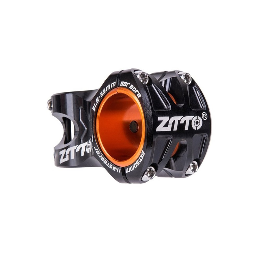 Hollow Out 0 Degree Rise DH AM Enduro Stem Bicycle 50mm MTB Stem Aluminum Alloy CNC Stem For 35mm / 31.8mm Handlebar