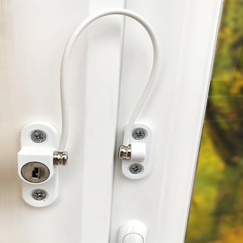 New Baby Window Lock Children Protection Metal Kids Safety Window Stopper Anti-theft Security Locks Window Limiter Cabinet Locks