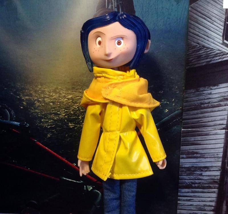 Coraline Action Figure The Secret Door Coraline Puerta Secreta Raincoat Take Off Action Figure Toys Doll Christmas Gift