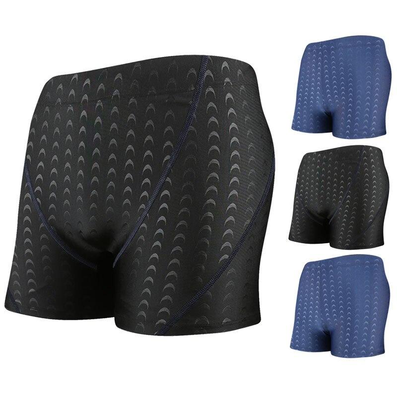 Shark Skin Fabric Men Boxer Swimming Trunks Comfortable Breathable Lining Men's Hot Springs Swimming Trunks