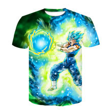 2019 nouveau Dragon Ball Bulma Super Saiyan végéta T-shirt 3D impression hommes femmes Anime Goku T-shirt Harajuku cosplay japon vêtements(China)