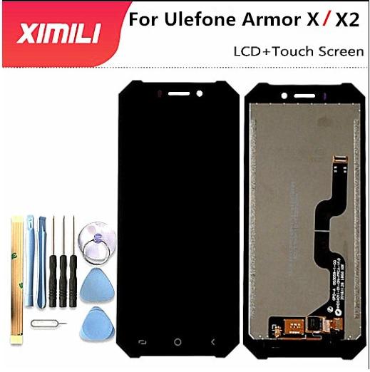 5.5 นิ้วหน้าจอ LCD ต้นฉบับสำหรับ Ulefone ARMOR X2 อุปกรณ์เสริมสำหรับโทรศัพท์มือถือสำหรับ Ulefone ARMOR X + ถอดเครื่องมือ + กาว 3 ม