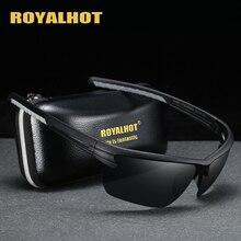 RoyalHot Men Women Polarized Half Frame Sports Sunglasses Vintage Sun G
