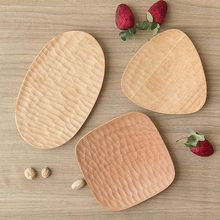4 5 inches creative ceramic dish tableware flower shape sauce dish candy dishes serving dishes for restaurant supplies New Creative Western Plate Serving Small Dessert Tray Wood Dish for Sushi Tableware for Home / Restaurant