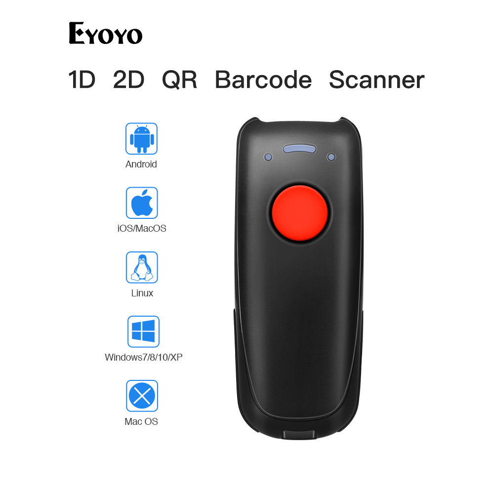 Wireless Barcode Scanner Tablet Mini Code-Reader 2D with BT Connect PC Ccd-Bar QR 10M