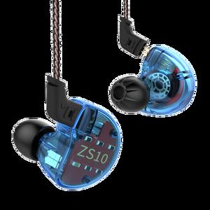 Image 2 - KZ ZS10 4BA+1DD Hybrid In Ear Earphone HiFi  Earphone Earplug Headset Earbud Noise Cancelling DJ Professional Earphone AS10 ZST